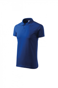 Tricou polo Single J, albastru royal1