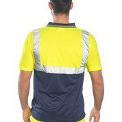 Tricou Polo galben cu insertii reflectorizante S4791