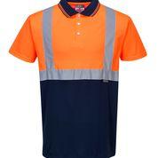 Tricou Polo portocaliu cu insertii reflectorizante S4790