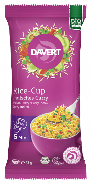 Rice cup (orez) indian curry bio 67g instant 0