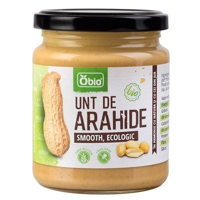 Unt de arahide smooth bio 250g 0