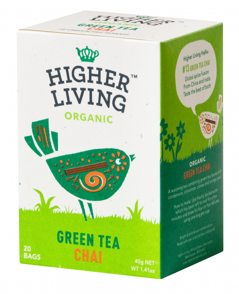 Ceai verde - CHAI - eco, 20 plicuri, Higher Living 0
