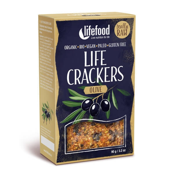 LIFECRACKERS cu masline raw eco 90g 0
