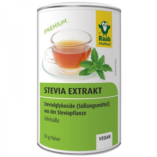 Stevia pulbere extract solubil premium 50g RAAB 0