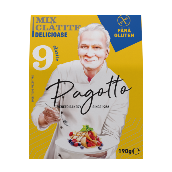 PAGOTTO - MIX PT CLATITE FARA GLUTEN 190G 0