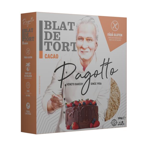 PAGOTTO - BLAT DE TORT CACAO FARA GLUTEN 350G 0