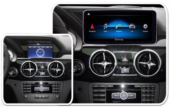 "Navigatie Mercedes GLK X204 ( 2008 - 2012) , Android , NTG 4.0 , 4GB RAM + 64 GB ROM , Slot Sim 4G LTE , Display 10.25 "" rez 1920*720 , Procesor Octa Core , Internet , Aplicatii , Waze , Wi Fi , Usb 9"