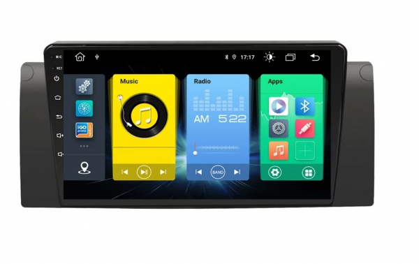 Navigatie BMW Seria 5 E39 X5 E53 , Android , Display 9 inch , 2GB RAM +32 GB ROM , Internet , 4G , Aplicatii , Waze , Wi Fi , Usb , Bluetooth , Mirrorlink 1