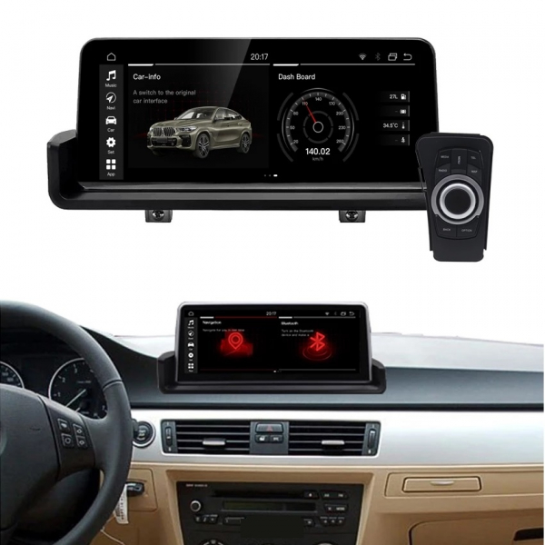 Navigatie BMW Seria 3 E90 ( 2005 - 2013 ) , Android , 4 GB RAM + 32 GB ROM , Internet , 4G , Youtube , Waze , Wi Fi , Usb , Bluetooth , Mirrorlink 2
