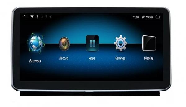 Navigatie Mercedes ML GL W166 ( 2013 - 2015) , Android , NTG 4.5 , 4GB RAM + 64 GB ROM , Slot Sim 4G LTE , Procesor Octa Core , Internet , Aplicatii , Waze , Wi Fi , Usb , Bluetooth , Mirrorlink 7