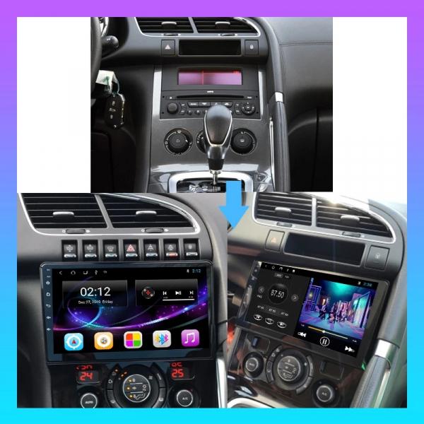 Navigatie Gps Peugeot 3008 / Citroen 3008 ( 2009 - 2018 ) , Android , 2 GB RAM + 16 GB ROM , Internet , 4G , Aplicatii , Waze , Wi Fi , Usb , Bluetooth , Mirrorlink 5