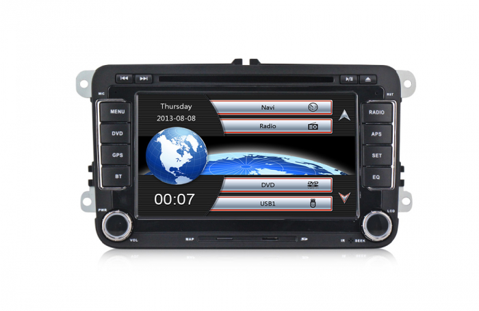 RESIGILATA Navigatie VW Golf 5 6 Passat B6 B7 CC Tiguan Touaran Jetta Eos Polo Amarok Caddy , Windows 6.0 , Dvd Player , Usb , Bluetooth , Card 8GB Europa full [1]