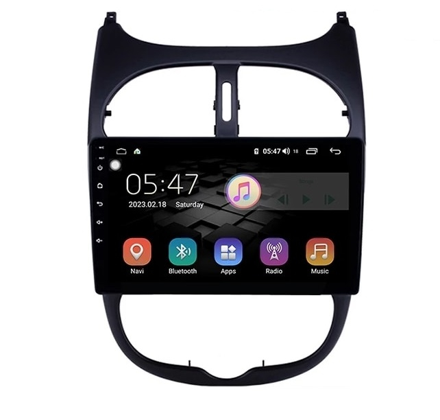 Navigatie Peugeot 206 , Android , Display 9 inch , 2GB RAM +32 GB ROM , Internet , 4G , Aplicatii , Waze , Wi Fi , Usb , Bluetooth , Mirrorlink 0