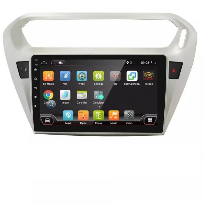 Navigatie Peugeot 301 Citroen C Elysee ( 2012 + ) , 4 GB RAM + 64 GB ROM , Slot Sim 4G pentru Internet , Carplay , Android , Aplicatii , Usb , Wi Fi , Bluetooth [2]