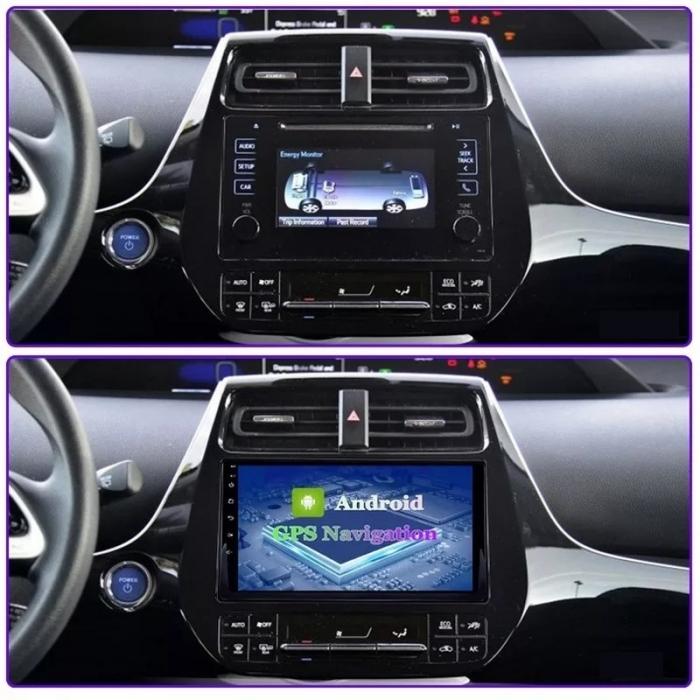 Navigatie Toyota Prius ( 2015 + ) , 4 GB RAM + 64 GB ROM , Slot Sim 4G pentru Internet , Carplay , Android , Aplicatii , Usb , Wi Fi , Bluetooth [1]