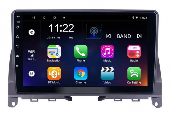 Navigatie Mercedes C Class W204 ( 2006 - 2012 ) , Android , Display 9 inch , 2GB RAM +32 GB ROM , Internet , 4G , Aplicatii , Waze , Wi Fi , Usb , Bluetooth , Mirrorlink 1