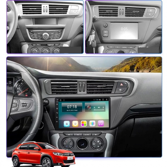 Navigatie Citroen C3-XR ( 2015 - 2019 ) , Android , Display 10 inch , 2GB RAM +32 GB ROM , Internet , 4G , Aplicatii , Waze , Wi Fi , Usb , Bluetooth , Mirrorlink 1