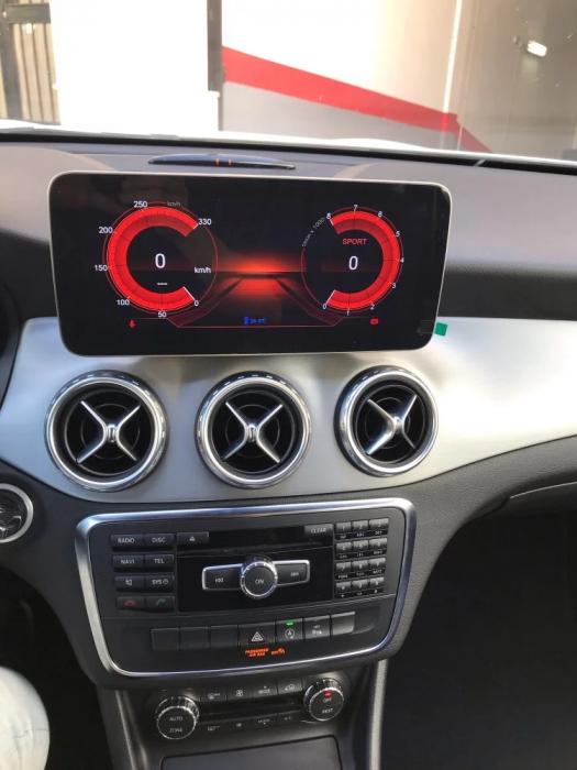 Navigatie Mercedes CLA C117 ( 2013 - 2018 ) , 8 GB RAM + 64 GB ROM , Slot Sim 4G LTE , Android , Procesor Octa Core , Internet , Aplicatii , Waze , Wi Fi , Usb , Bluetooth 4