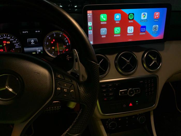 Navigatie Mercedes A Class W176 ( 2013 - 2020) , 8 GB RAM + 64 GB ROM , Slot Sim 4G LTE , Android , Procesor Octa Core , Internet , Aplicatii , Waze , Wi Fi , Usb , Bluetooth 5