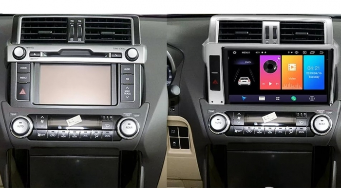 Navigatie Toyota Land Cruiser ( 2014 - 2017 ) , Android , Display 9 inch , 2GB RAM +32 GB ROM , Internet , 4G , Aplicatii , Waze , Wi Fi , Usb , Bluetooth , Mirrorlink 2