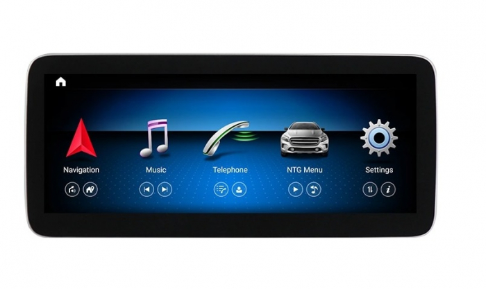 Navigatie Mercedes A Class W176 ( 2013 - 2020) , 8 GB RAM + 64 GB ROM , Slot Sim 4G LTE , Android , Procesor Octa Core , Internet , Aplicatii , Waze , Wi Fi , Usb , Bluetooth 0