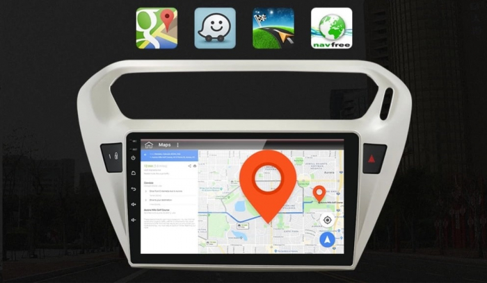 Navigatie Peugeot 301 Citroen C Elysee ( 2012 + ) , 4 GB RAM + 64 GB ROM , Slot Sim 4G pentru Internet , Carplay , Android , Aplicatii , Usb , Wi Fi , Bluetooth [3]