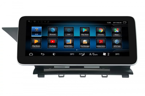 "Navigatie Mercedes GLK X204 ( 2008 - 2012) , Android , NTG 4.0 , 4GB RAM + 64 GB ROM , Slot Sim 4G LTE , Display 10.25 "" rez 1920*720 , Procesor Octa Core , Internet , Aplicatii , Waze , Wi Fi , Usb 8"