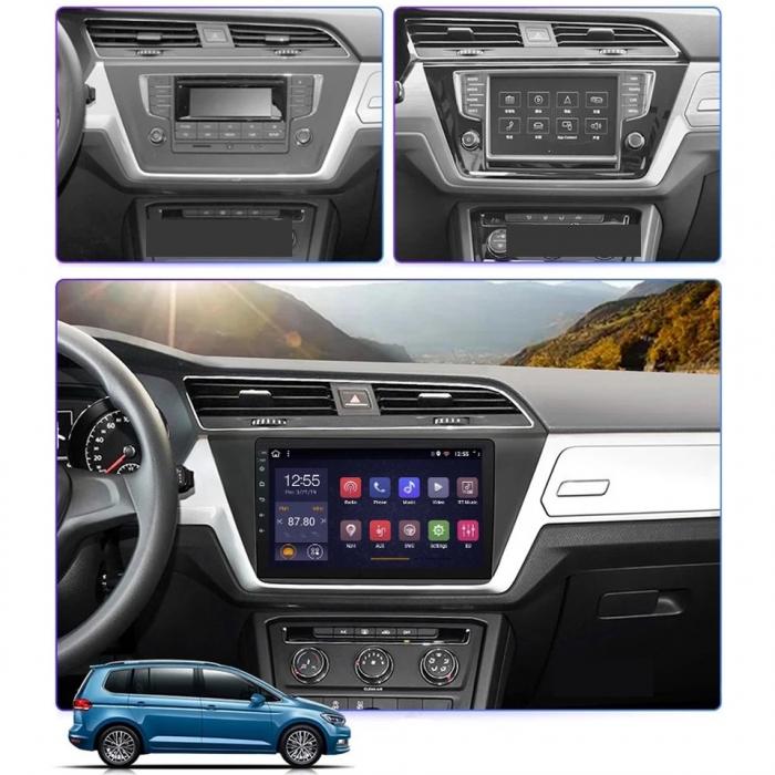 Navigatie VW Touran 2016 + , 4 GB RAM si 64 GB ROM , Slot Sim 4G pentru Internet , Carplay , Android , Aplicatii , Usb , Wi Fi , Bluetooth [1]