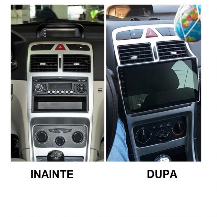 Navigatie Peugeot 307 ( 2002 - 2013 ) , 4 GB RAM + 64 GB ROM , Slot Sim 4G pentru Internet , Carplay , Android , Aplicatii , Usb , Wi Fi , Bluetooth 1