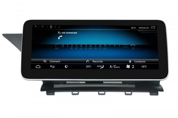 "Navigatie Mercedes GLK X204 ( 2008 - 2012) , Android , NTG 4.0 , 4GB RAM + 64 GB ROM , Slot Sim 4G LTE , Display 10.25 "" rez 1920*720 , Procesor Octa Core , Internet , Aplicatii , Waze , Wi Fi , Usb 5"