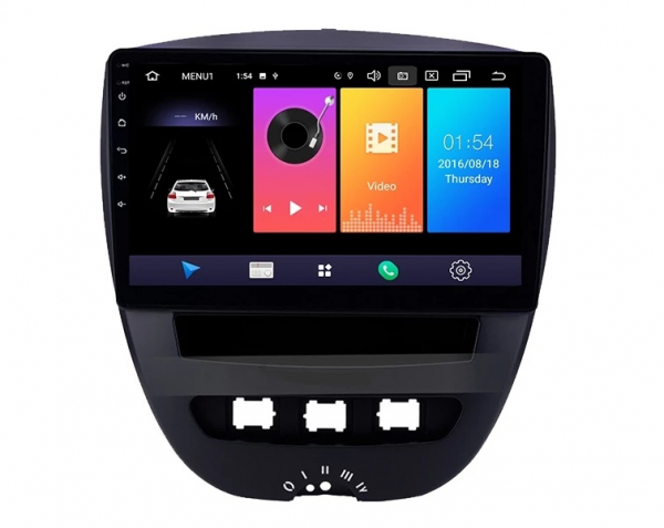 Navigatie Peugeot 107 ( 2005 - 2015 ) , Android , Display 10 inch , 2GB RAM +32 GB ROM , Internet , 4G , Aplicatii , Waze , Wi Fi , Usb , Bluetooth , Mirrorlink 2