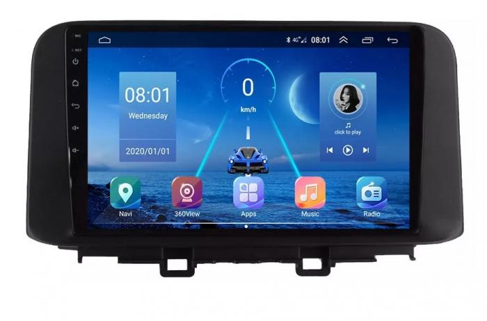 Navigatie Hyundai Kona ( 2018 + ) , Android , Display 9 inch , 2 GB RAM si 32 GB ROM , Internet , 4G , Aplicatii , Waze , Wi Fi , Usb , Bluetooth , Mirrorlink [0]