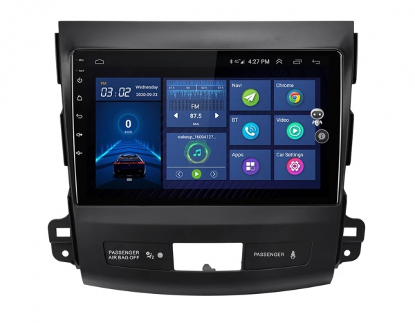 Navigatie Mitsubishi Outlander ( 2006 - 2014 ) , Android , Display 9 inch , 2GB RAM +32 GB ROM , Internet , 4G , Aplicatii , Waze , Wi Fi , Usb , Bluetooth , Mirrorlink 2