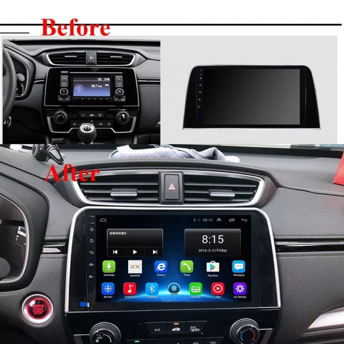 Navigatie Honda CR-V ( 2016 - 2019 ) , Android , Display 9 inch , 2GB RAM +32 GB ROM , Internet , 4G , Aplicatii , Waze , Wi Fi , Usb , Bluetooth , Mirrorlink 3