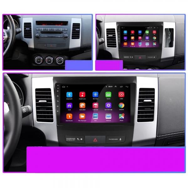 Navigatie Mitsubishi Outlander ( 2006 - 2014 ) , Android , Display 9 inch , 2GB RAM +32 GB ROM , Internet , 4G , Aplicatii , Waze , Wi Fi , Usb , Bluetooth , Mirrorlink 4