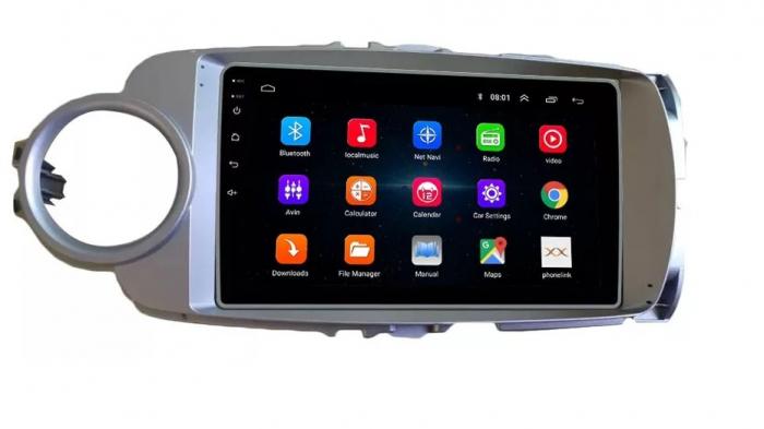 Navigatie Toyota Yaris ( 2010 - 2018 ) , Android , Display 9 inch , 2GB RAM +32 GB ROM , Internet , 4G , Aplicatii , Waze , Wi Fi , Usb , Bluetooth , Mirrorlink [3]