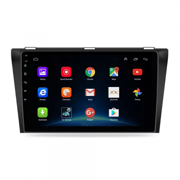 Navigatie Mazda 3 ( 2003 - 2010 ) , Android , Display 9 inch , 2GB RAM +32 GB ROM , Internet , 4G , Aplicatii , Waze , Wi Fi , Usb , Bluetooth , Mirrorlink 4