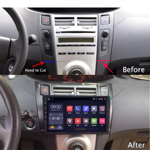 Navigatie Toyota Yaris ( 2005 - 2012 ) , Android , Display 9 inch , 2GB RAM +32 GB ROM , Internet , 4G , Aplicatii , Waze , Wi Fi , Usb , Bluetooth , Mirrorlink 1