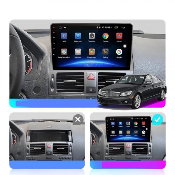 Navigatie Mercedes C Class W204 ( 2006 - 2012 ) , Android , Display 9 inch , 2GB RAM +32 GB ROM , Internet , 4G , Aplicatii , Waze , Wi Fi , Usb , Bluetooth , Mirrorlink 6