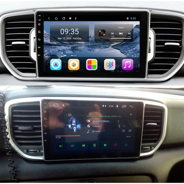 Navigatie Kia Sportage ( 2016 + ) , Android , Display 9 inch , 2GB RAM +32 GB ROM , Internet , 4G , Aplicatii , Waze , Wi Fi , Usb , Bluetooth , Mirrorlink 4