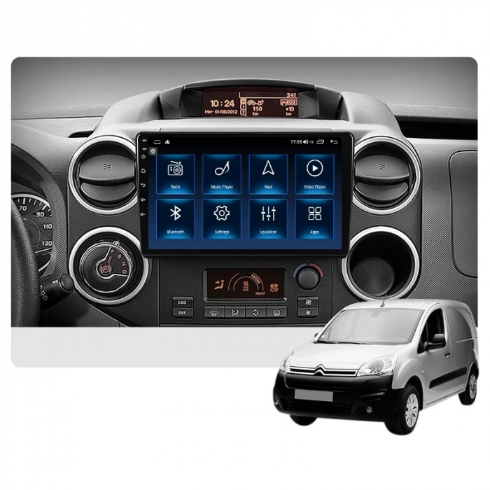 Navigatie Citroen Berlingo ( 2008 - 2019 ) , Android , Display 9 inch , 2GB RAM +32 GB ROM , Internet , 4G , Aplicatii , Waze , Wi Fi , Usb , Bluetooth , Mirrorlink [2]