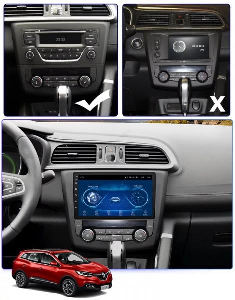 Navigatie Renault Kadjar ( 2016 + ) , Android , Display 9 inch , 2GB RAM +32 GB ROM , Internet , 4G , Aplicatii , Waze , Wi Fi , Usb , Bluetooth , Mirrorlink 5