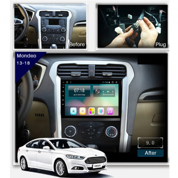 Navigatie Gps Ford Mondeo ( 2013 +  ) , Android , 2 GB RAM +16 GB ROM , Internet , 4G , Aplicatii , Waze , Wi Fi , Usb , Bluetooth , Mirrorlink 1