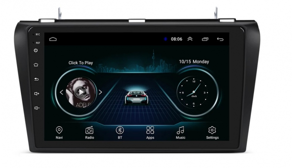 Navigatie Mazda 3 ( 2003 - 2010 ) , Android , Display 9 inch , 2GB RAM +32 GB ROM , Internet , 4G , Aplicatii , Waze , Wi Fi , Usb , Bluetooth , Mirrorlink 3
