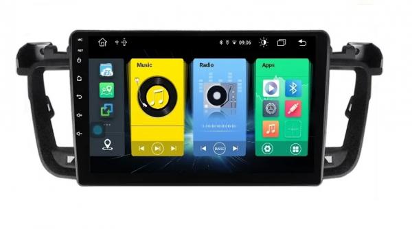 Navigatie Peugeot 508 ( 2010 - 2018 ) , Android , Display 9 inch , 2GB RAM +32 GB ROM , Internet , 4G , Aplicatii , Waze , Wi Fi , Usb , Bluetooth , Mirrorlink 1