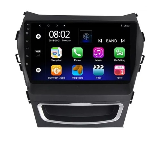 Navigatie Hyundai Santa Fe ix 45 ( 2012 - 2017 ) , Android , Display 9 inch , 2GB RAM +32 GB ROM , Internet , 4G , Aplicatii , Waze , Wi Fi , Usb , Bluetooth , Mirrorlink [4]
