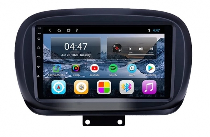 Navigatie Fiat 500X ( 2014 - 2019 ) , Android , Display 9 inch , 2GB RAM +32 GB ROM , Internet , 4G , Aplicatii , Waze , Wi Fi , Usb , Bluetooth , Mirrorlink 1