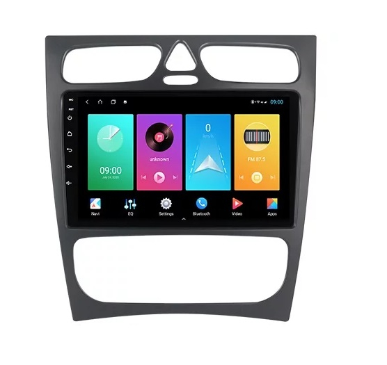 Navigatie Mercedes C Class W203 CLK W209 ( 2000 - 2005 ) , Android , Display 9 inch , 2GB RAM +32 GB ROM , Internet , 4G , Aplicatii , Waze , Wi Fi , Usb , Bluetooth , Mirrorlink 1