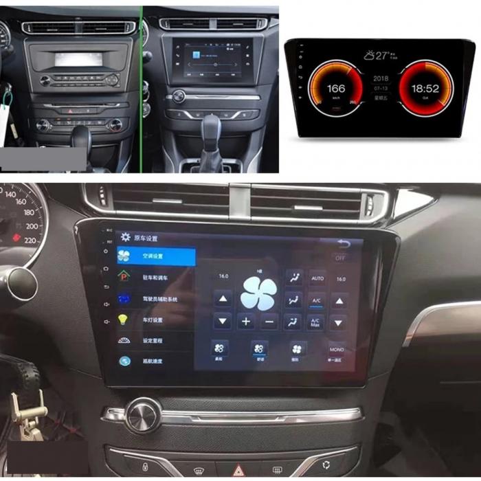 Navigatie Peugeot 408 ( 2014 - 2020 ) , Android , Display 10 inch , 2GB RAM +32 GB ROM , Internet , 4G , Aplicatii , Waze , Wi Fi , Usb , Bluetooth , Mirrorlink 4