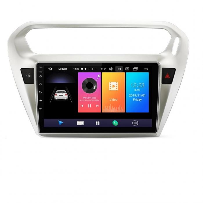 Navigatie Peugeot 301 Citroen C Elysee ( 2012 + ) , 4 GB RAM + 64 GB ROM , Slot Sim 4G pentru Internet , Carplay , Android , Aplicatii , Usb , Wi Fi , Bluetooth [0]